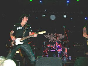 Phil Lewis - Phil Lewis with Steve Riley and L.A. Guns. The Chance Theater, Poughkeepsie, New York. March 2008.