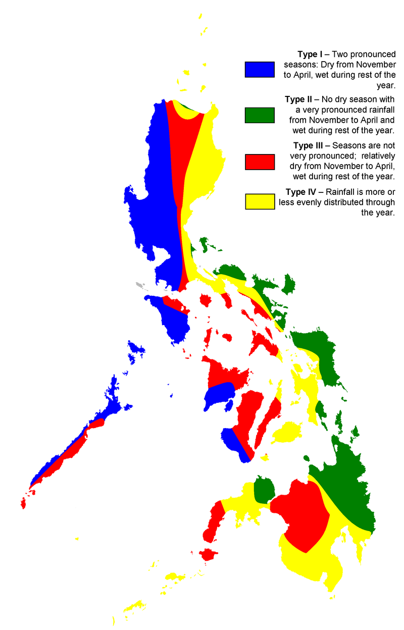 According to Mr. Querijero, this infographic of Philippine Climate Map is very important for every Filipino to know in order for them to understand the weather (image source: Wikipedia)