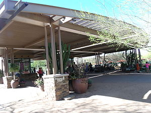 Desert Botanical Garden - The main entrance of the Desert Botanical Garden