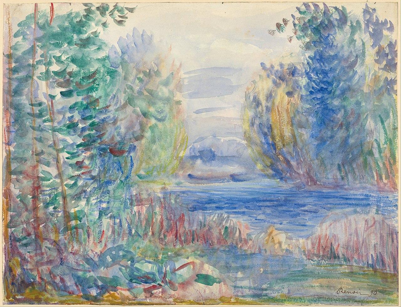 File Pierre Auguste Renoir River Landscape 1890