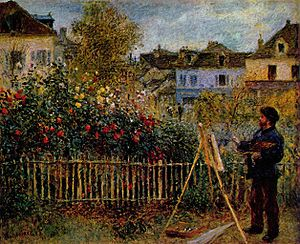 Claude Monet Painting in His Garden at Argente…