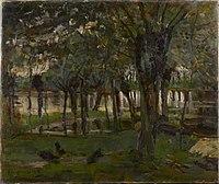 Piet Mondriaan - Willow grove near the water, prominent tree at right - 0334263 - Kunstmuseum Den Haag.jpg