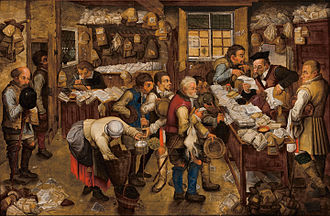 Pieter Brueghel the Younger - The Village Lawyer or The Tax Collector's Office