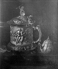 Silver Mug and Clay Pot