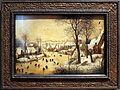 Pieter bruegel il vecchio, paesaggio invernale con trappola per uccelli, 1565, 01.JPG