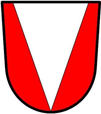 Pile (heraldry) - Image: Pile throughout wiki