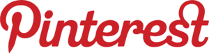 Red Pinterest logo