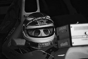 Nelson Piquet 1991 im Benetton-Cockpit
