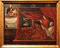 Pittore lombardo, ludovico il moro a letto invoca la madonna col bambino, 1490 ca..JPG