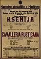 Plakat za predstavi Ksenija in Cavalleria Rusticana v Narodnem gledališču v Mariboru 26. februarja 1925.jpg