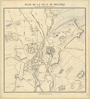 Maps of Belfort, France, 1883