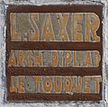 Plaque architecte L. Saxer Touquet-Paris-Plage.jpg