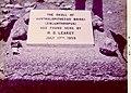 Plaque where Mary Leakey found Zinjanthropus skull, Tanzania.jpg