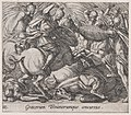 Plate 113- The Greeks Battling the Trojans (Graecorum Troianorumque concursus), from Ovid's 'Metamorphoses' MET DP866560.jpg