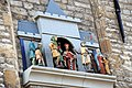 Playing tableau at the Townhall Gouda. The King and queen appear ech qurter when the carillon is ringing - panoramio.jpg