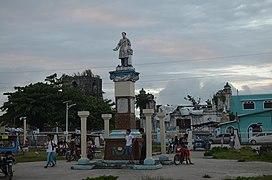 Plaza at Guiuan, Eastern Samar