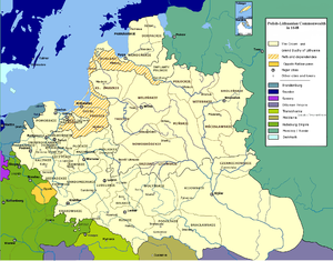 Lauenburg and Bütow Land - Polish-Lithuanian Commonwealth in 1648