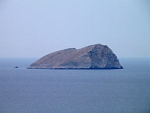 Pondikonisi - The islet of Pontikonisi.