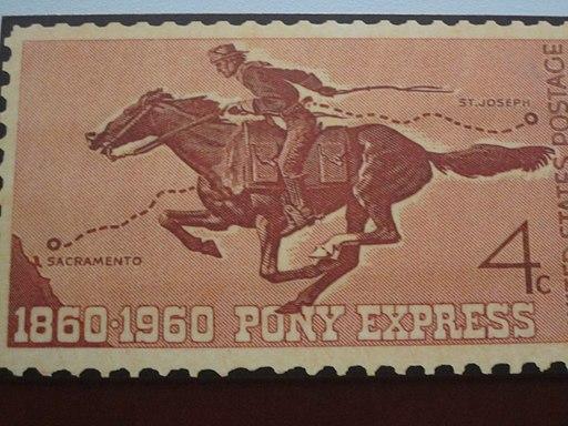 Pony Express 100th anniversary stamp IMG 4371