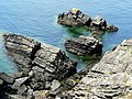Port Logan rocks - geograph.org.uk - 1725964.jpg