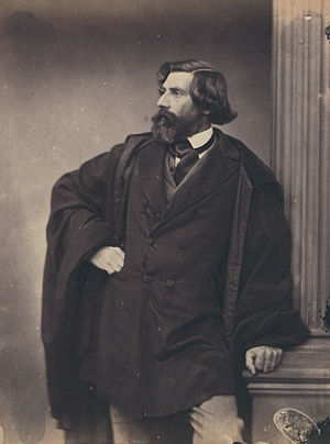 Ludwig Lange (architect) - Photograph of Ludwig Lange by Franz Hanfstaengl (late 1850s)
