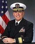Portrait of US Navy Rear Admiral (lower half) Richard J. Mauldin.jpg