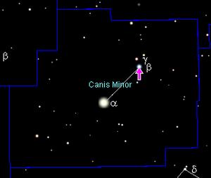 Beta Canis Minoris - Image: Position Beta Cmi