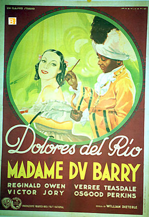 Madame Du Barry (1934 film) - Promotional poster for the film.