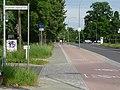 Potsdam, linker Radweg Pappelallee, Einmündung der Johannes-Lepsius-Straße - panoramio.jpg