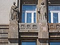 Power and knowledge statues at the Foreign Ministry, 2016 Budapest.jpg