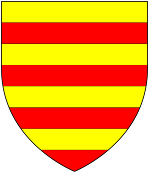 John Poyntz - Arms of Poyntz: Barry of eight or and gules