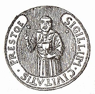 Præstø - Image: Præstøs segl