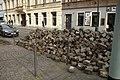 Praha, Senovážné náměstí, rekonstrukce trati, dlažební kostky.jpg