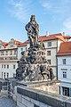 Praha 1, Karlův most, Sochy, Svatý Vít 20170810 002.jpg