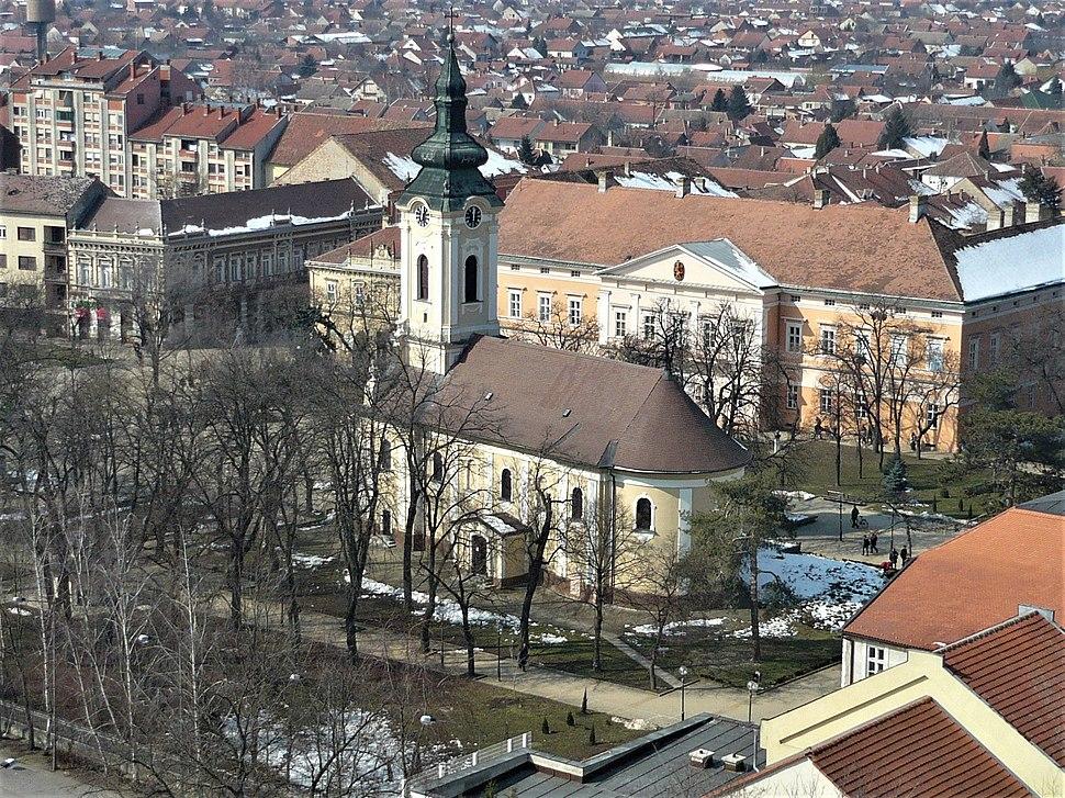 Pravoslavna crkva i Zgrada Velikokikindskog dištrikta u Kikindi