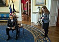 President Barack Obama is briefed by Sahar Nowrouzzadeh before taping a Nowruz message to the Iranian people.jpg