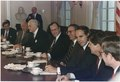 President Bush participates in a budget meeting with Congressional Leadership - NARA - 186411.tif