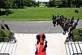 President Trump, First Lady Melania Trump, President Duda, and Mrs. Duda Watch an F-35 Flyover (48055728363).jpg