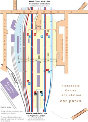 York Railway Station Platform Map Preston railway station   Wikipedia