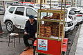 Pretzel seller outside Sirkeci train station (15953478765).jpg