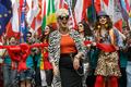 Pride in London 2016 - Joanna Lumley in character as Patsy Stone before opening the parade.png