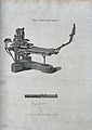 Printing; a three-quarter view of a press, with a composing Wellcome V0023782.jpg