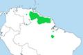Procnias albus dist.png
