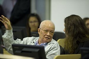Nuon Chea - Extraordinary Chambers in the Courts of Cambodia (ECCC) finds Nuon Chea and Khieu Samphan guilty and gives them both life sentences for crimes against humanity.