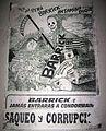 Propaganda against Barrick Gold Corp (Huaraz, Perú).JPG