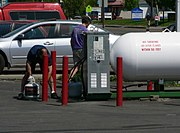 Retail sale of propane in Monmouth, Oregon