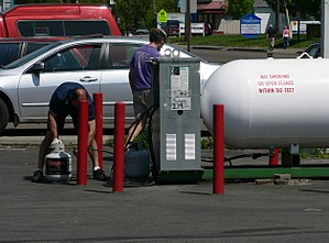 Retail sale of propane in the US