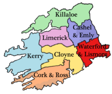 The Diocese of Cork and Ross within the Province of Cashel