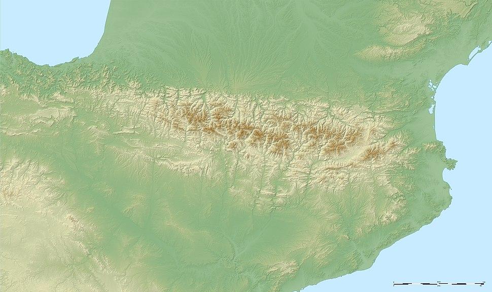 Pyrenees topo map-blank