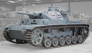 Panzer III German medium tank of the 1930s and World War II.